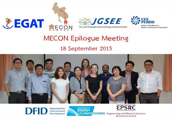 Epilogue Meeting of MECON Project
